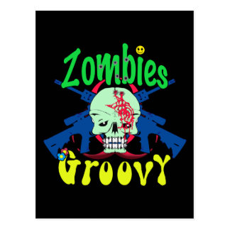 Groovy 70er der Zombies Postkarten