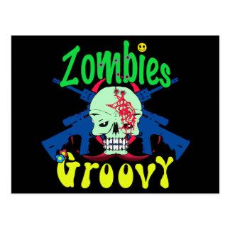 Groovy 70er der Zombies Postkarte