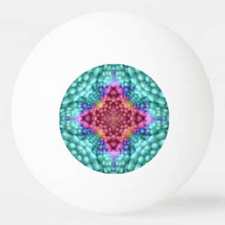 Groovy blauer Vintager KaleidoskopPing Pong Ball Ping-Pong Ball