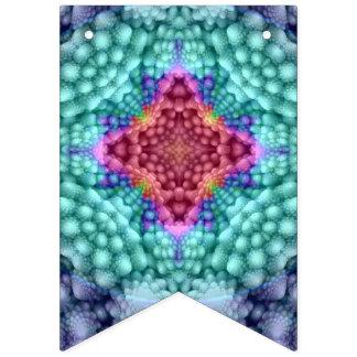 Groovy blaues Vintages Kaleidoskop Wimpelketten