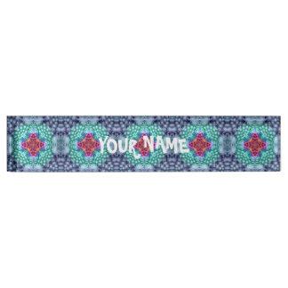 Groovy blaues Vintages Namensplakette