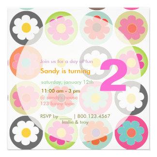 Groovy Gänseblümchen helles Personalisierte Ankündigungskarte