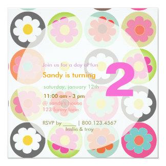 Groovy Gänseblümchen/helles Personalisierte Ankündigungskarte
