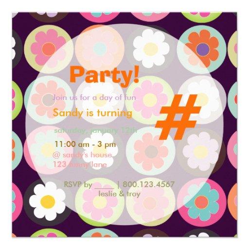 Groovy Gänseblümchen/helles Einladung