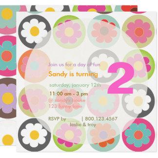 Groovy Gänseblümchen/helles Quadratische 13,3 Cm Einladungskarte