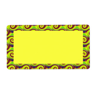 Groovy gelbes Brown-Strudel abstrakt