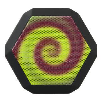 Groovy gelbes Brown-Strudel abstrakt Schwarze Bluetooth Lautsprecher