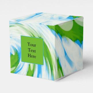 Groovy grün-blauer Krawatten-Strudel Geschenkschachtel