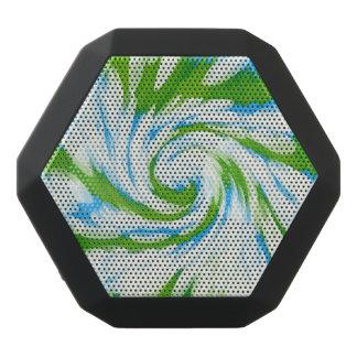 Groovy grün-blauer Krawatten-Strudel Schwarze Bluetooth Lautsprecher
