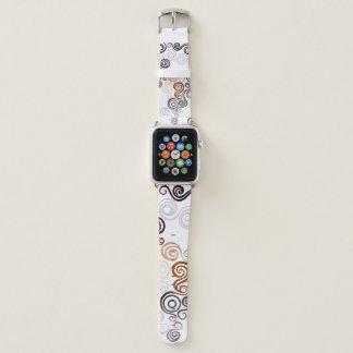 Groovy lila wirbelnde Kunst Apple Watch Armband