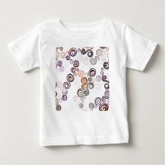 Groovy lila wirbelnde Kunst Baby T-shirt