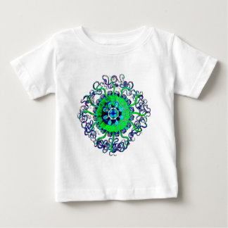 Groovy Pop-Kunst-Quallen MandalaTattoo Baby T-shirt