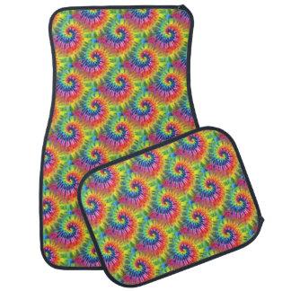 Groovy Regenbogen-Krawatten-Auto-Matten Auto Fussmatte