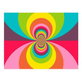 Groovy Retro Hippie-Vintages Postkarte