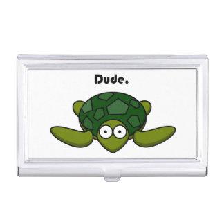 Groovy Schildkröte-Typ-Cartoon Visitenkarten Etui