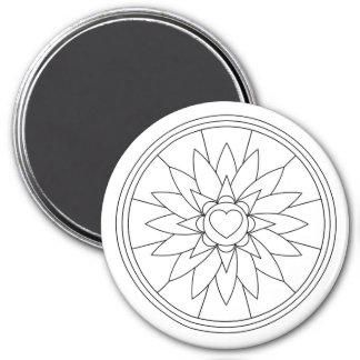 Groß, 3 Zoll-erwachsener Farbton-Magnet Runder Magnet 7,6 Cm