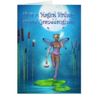 Groß - Enkelin Geburtstags-Karte mit hübscher Karte