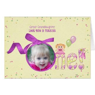 Groß - Geburtstags-Fotokarte der Enkelin erste Grußkarte