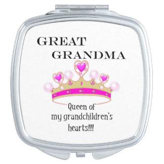 Groß - Großmutter Königin der Herzen Taschenspiegel