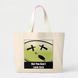 Groß schauen Sie nicht kranke Taschen-Tasche Jumbo Stoffbeutel