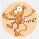 Großartige Belohnungs-Aufkleber - Affe