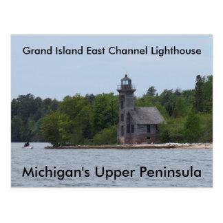 Großartige Insel-Ostkanal-Leuchtturm Postkarte