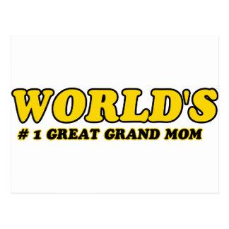 Großartige Mamma der Zahl 1 der Welt Postkarte