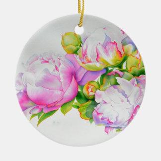 Großartige Pfingstrose Keramik Ornament