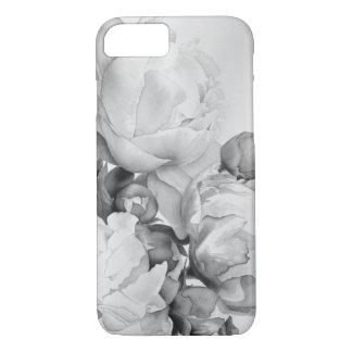 Großartige Pfingstrose - Schwarzweiss iPhone 8/7 Hülle