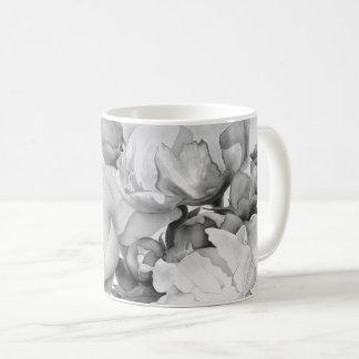 Großartige Pfingstrose - Schwarzweiss Kaffeetasse