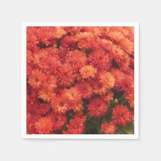 Großartige rote orange Fall-Mama-Servietten