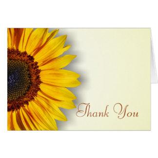 Großartige Sonnenblume danken Ihnen zu kardieren Karte