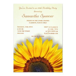 Großartige Sonnenblume-Geburtstags-Einladung 12,7 X 17,8 Cm Einladungskarte