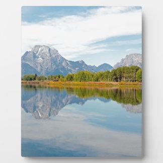 Großartige Teton Berge Fotoplatte