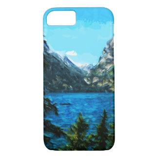 Großartige Teton Berge Wyomings abstrakt iPhone 8/7 Hülle