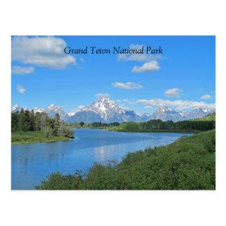 Großartige Teton landschaftliche Ansicht-Postkarte Postkarte