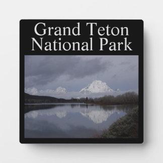 Großartige Teton Nationalpark-Plakette Fotoplatte