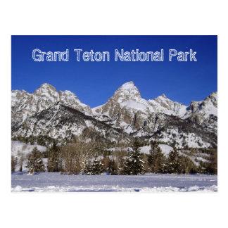 Großartige Teton Nationalpark-Postkarte Postkarte