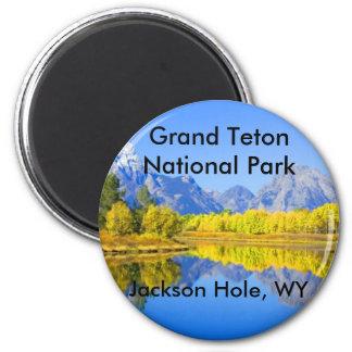 Großartige Teton Nationalpark-Reihe 1 Runder Magnet 5,7 Cm