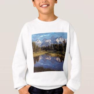Großartige Teton Reflexionen Yellowstone Sweatshirt