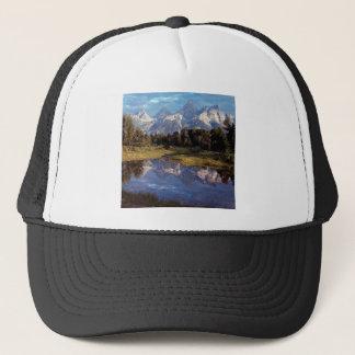 Großartige Teton Reflexionen Yellowstone Truckerkappe