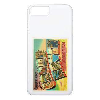 Großartige Vintage Reise-Andenken Hafen-Michigans iPhone 8 Plus/7 Plus Hülle
