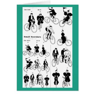Großartige Zeiten auf zwei Rädern, 1897 Grußkarte