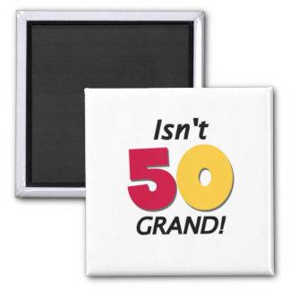 Großartiger 50. Geburtstag Quadratischer Magnet