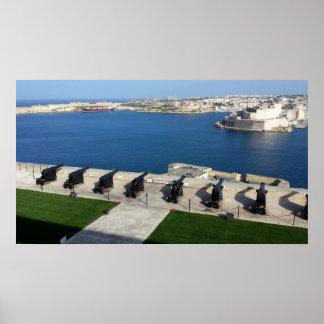 Großartiger Hafen in Malta Poster