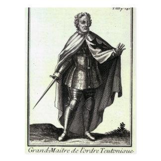 Großartiger Meister des Teutonic Auftrages Postkarte