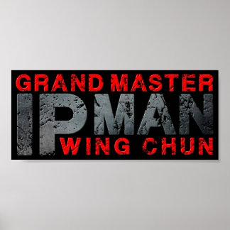 """Großartiger Meister """"IP-Mann-"""" Flügel Chun Poster"""