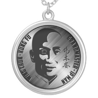 Großartiger Meister Yip Mann - Flügel Chun Kung Fu Halskette Mit Rundem Anhänger