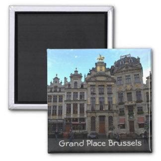 Großartiger Platz, Brüssel Quadratischer Magnet