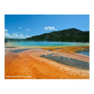 Großartiger prismatischer Frühling in Yellowstone Postkarte